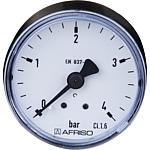 Rohrfeder-Manometer Industrie, axial