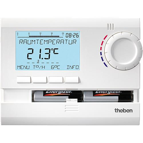 RAMSES 831 top Uhrenthermostat digital 24h/7d, Ferienprogramm RAL 9010 weiß (Batterieversion)