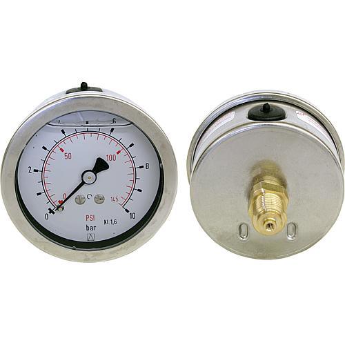 """Thermo-Manometer 63 mm Axial 0-6 bar 1//2/"""" NEU"""