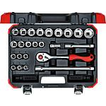 "Socket wrench set 1/2"", 24-piece"