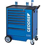Tool trolley 2004 with 7 drawers, with ABS plastic work surface