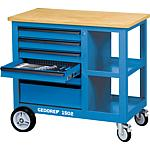 Roller workbench 1502 with 6 drawers, with wooden work surface