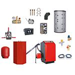 Promotional pack for pellet boiler system Atmos P21