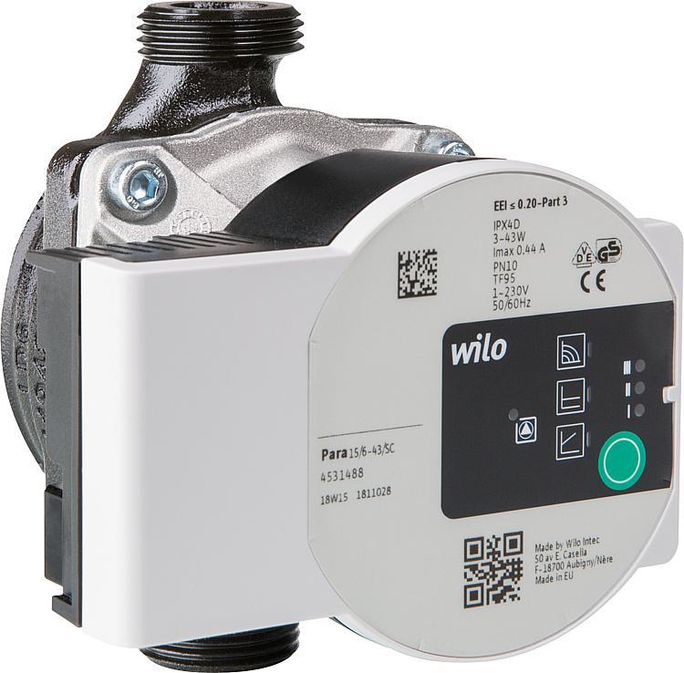 Wilo PARA 25//6-43//SC 130mm Heizung Solar Sole Hocheffizienzpumpe Solarpumpe