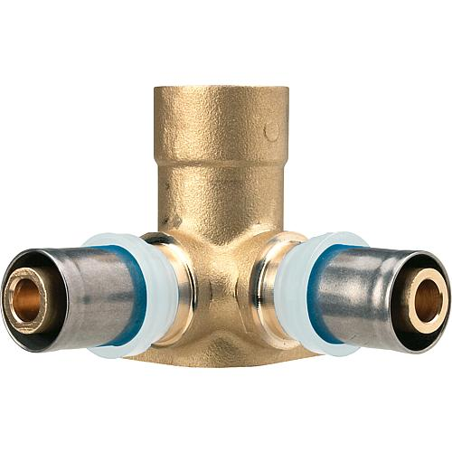 """Wandwinkel doppelt 16x2-1//2/""""-16x2 mm Heizung Sanitär Kontur TH Pressfitting"""