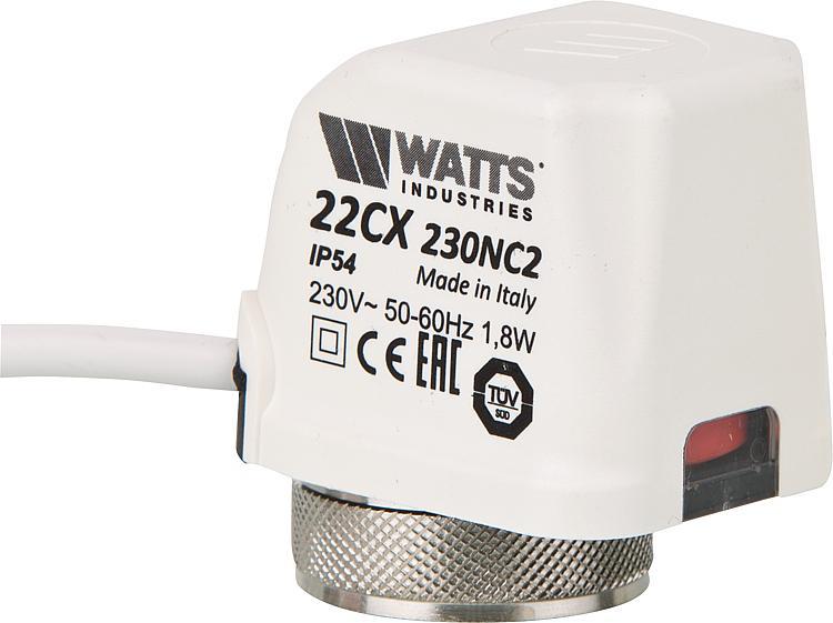 Watts Stellantrieb Set f/ür Fu/ßbodenheizung Heizkreisverteiler 230V 22CX 230NC2 1,8 W 20 St/ück