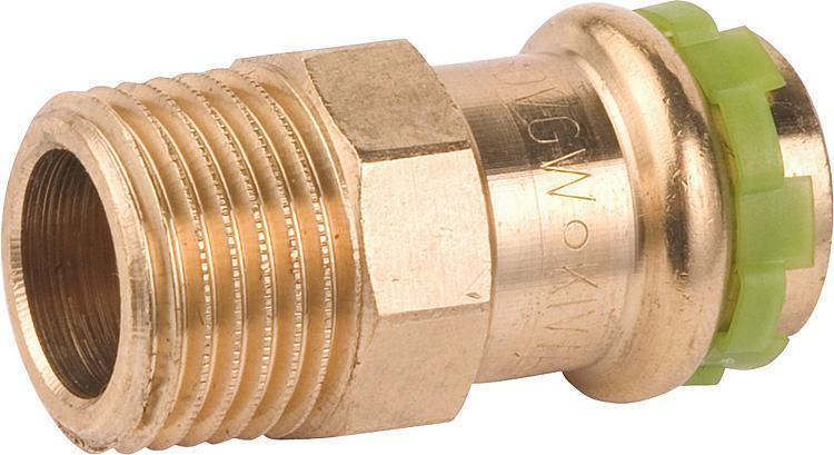 Kupfer Rotguß Pressfitting DVGW unverpresst undicht Press Fitting Trinkwasser