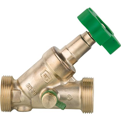 "Free-flow valves WS made of forging brass, with drain DN 8 (1/4"") Standard 1"