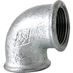 Malleable cast iron fittings galvanised/black