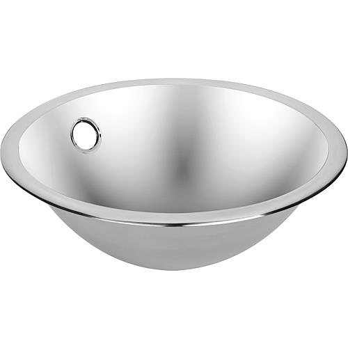 Built-in sink made of stainless steel with beaded edge ø 310 mm Standard 1