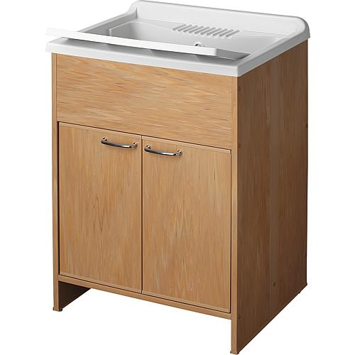 Plastic draining sink with base cabinet and doors Standard 1