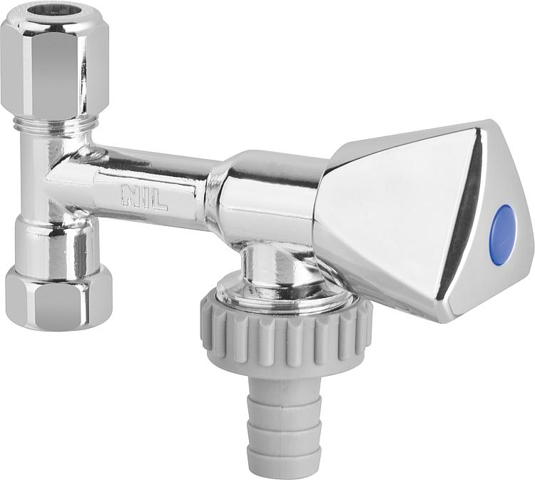 Eckventil Geräteventil messing verchromt Sanitäreckventil Armaturen Ventil PEX