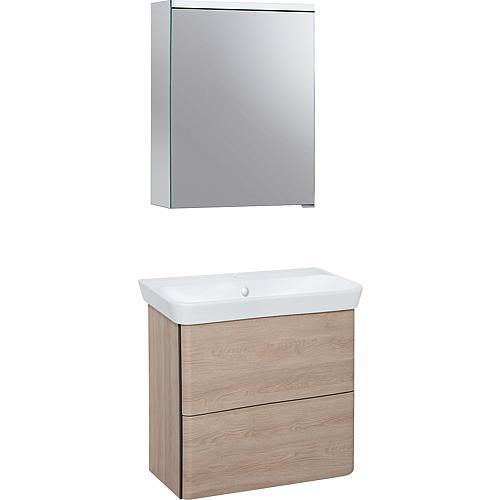 Kit meuble salle de bain Burgbad Suri 2 E.D. Cashmere ...