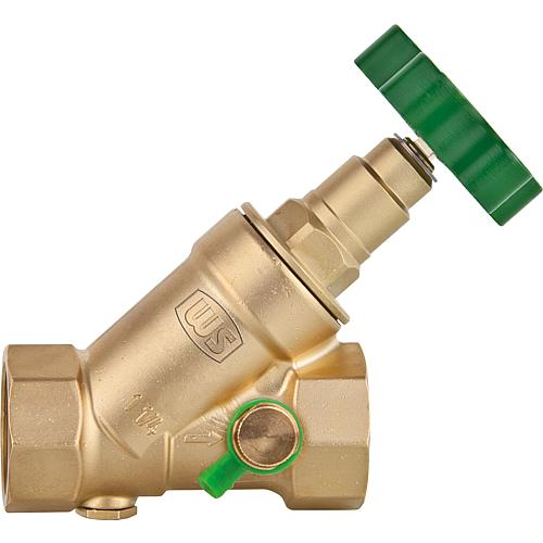 "WS free-flow valves made of forging brass, with draining DN 8 (1/4"") Standard 1"