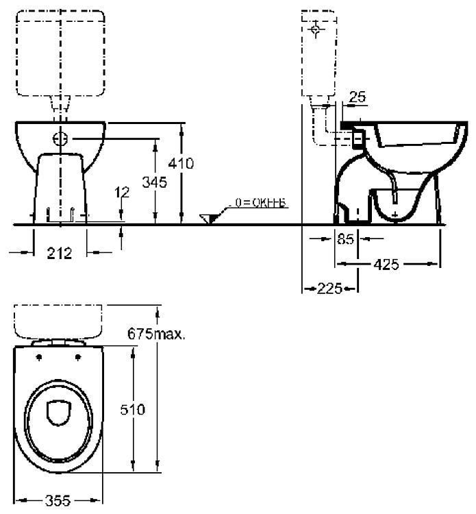 ws stand tiefsp l wc renova nr 1 keramag 4 5 6l abgang innen senkrecht wei. Black Bedroom Furniture Sets. Home Design Ideas