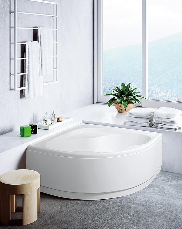 Baignoire D Angle Ember Acrylique Blanc Lxhxp 1390x400x1390 Mm Contient 230 Litres