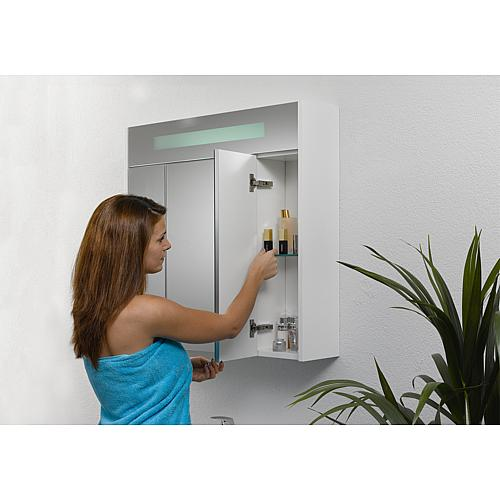 Mirror cabinet with lighting, width 850 mm Anwendung 4