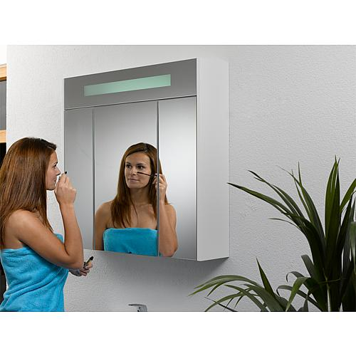 Mirror cabinet with lighting, width 850 mm Anwendung 7