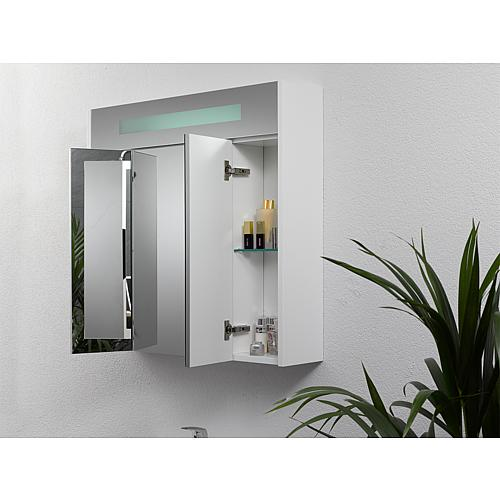 Mirror cabinet with lighting, width 850 mm Anwendung 8