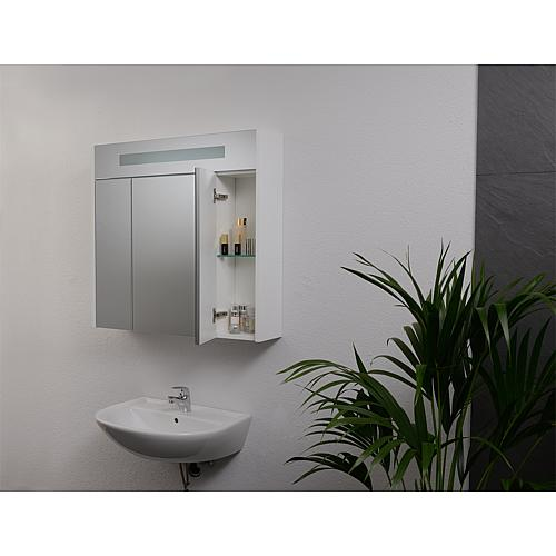 Mirror cabinet with lighting, width 850 mm Anwendung 9