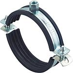 Solid-pipe clamps FRSM, galvanised, for high loads