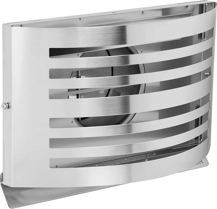 Grille de ventilation en acier inoxydable /… Grille da/ération avec Clapet anti-retour /ø150 mm