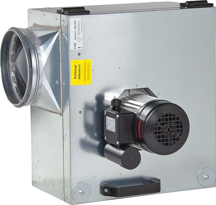 WS   Abluftbox schallgedämmt Typ EKR DN 200-315, Fördertemperatur ...